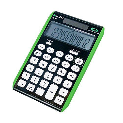 - Datexx DD-180GRN 12 Digit Hybrid Slim Line Desktop Calculator (Color may vary)