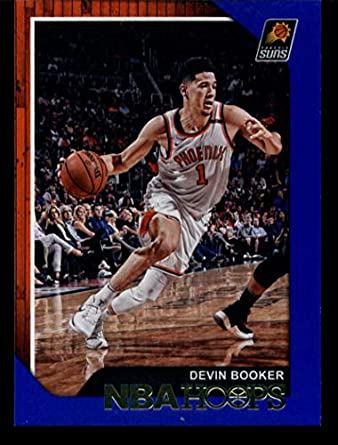 f5d16a03084ff Amazon.com: 2018-19 Panini Hoops Blue #87 Devin Booker Suns ...