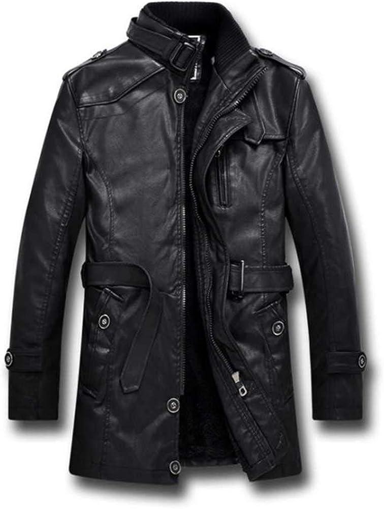 Nuevo estilo británico de la motocicleta de cuero negro chaqueta de los hombres medio largo cortavientos de cuero chaquetas hombres abrigos