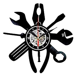 Queen Clocks Workshop Tools Vinyl Record Wall Clock - Best Gift for Handyman