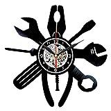 Tool Vinyl Clock - Handyman Gifts - Craftsman Wall Decor - Workshop Decorations