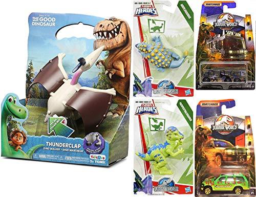 (Thunder Jurassic Pack Matchbox Fleetwood Southwind Ford Explorer & Good Dinosaur Dino Walker Thunderclap Figure / Stomp & Chomp Heroes Figures Characters 5 Pack Action Bundle)