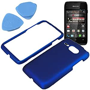 BW Hard Shield Shell Cover Snap On Case for Virgin Mobile Kyocera Event C5133 + Tool -Blue