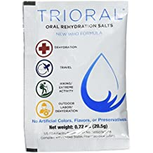 Oral Rehydration Salts ORS (100, One Liter Packets/Box) World Health Organization (WHO) New Formula for Food Poisoning, Hangovers, Diarrhea, Electrolyte Replacement