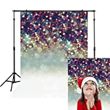 Funnytree 5X7ft Polyester Colorful Bokeh Spots Glitter Photography Backdrop Christmas Snow Tree Branch Background Newborn Baby Banner Professional Portrait Photo Studio Photobooth Props