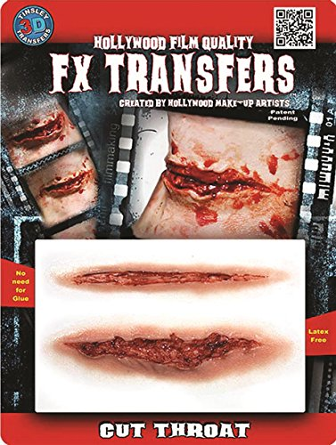 Tinsley Transfers  Cut Throat, Flesh/Multi, One Size ()