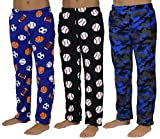 Real Essentials Plush Pajama Bottoms for Boys - Pack of 3 -Set 4- Size 8/10