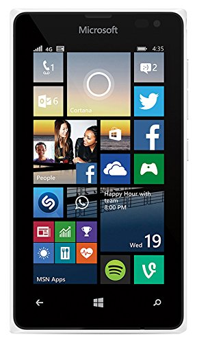 Microsoft Lumia 435 8GB 4G Unlocked GSM Windows Smartphone - Bulk Packaging (White)