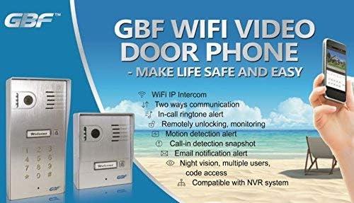 GBF New Upgraded Global Wireless Video Doorphone /& Doorbell WI-FI Intercom