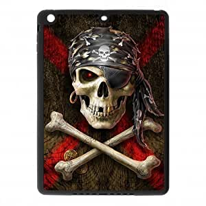IPad Air Case,Cool Pirate Skull & Crossbones Design Cover With Hign Quality Rubber Plastic Protection Case