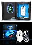 AULA JAGTEN SI-9003 7 Color LED Optical Translucent Gaming Mouse White Color (4,000DPI)