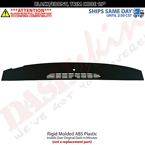 DashSkin Molded Defrost Dash Cover Compatible with 07-14 GM SUVs & Pickups in Ebony/Black ()