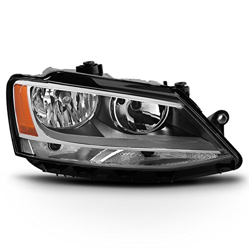 For 2011-2018 VW Jetta 4-Door Sedan Models Passenger Right Side Halogen Headlight Replacement
