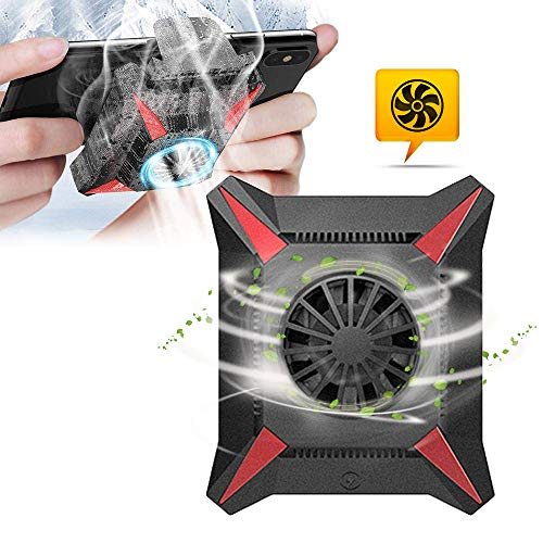 Phone Cooler, Phone Cooling Fan Case, Mobile Phone Water Cooled Radiator for Android/iPhone - Mute, Protect The Battery