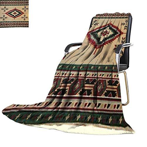 Blankets Fleece Blanket Throw,Tan Southwest Design Polar for Sofa Bed 30