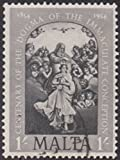 Centenary of Dogma of the Immaculate Conception Malta Postage Stamp