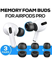 Proof Labs Memory Foam Ear Tips Accessories Compatible with AirPods Pro (3 Pairs S, M, L Buds)