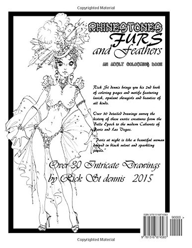 Amazon.com: Rhinestones, Furs and Feathers - an adult coloring ...