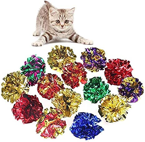 Namgiy 10 bolas de crackle para gatos, pelotas de sonido, sonido ...