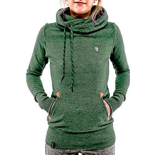 ACHIEWELL Womens Sweatshirt Hoodies Turtleneck Pullover Pocket Coat