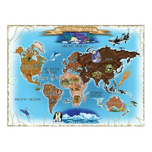 Melissa & Doug Deluxe 500 piece Map of the World Cardboard Jigsaw