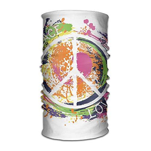 Colorful Art Peace Sign Headband Bandana,Outdoor Headwear,Magic Scarf
