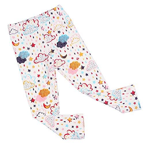 Loungewear Infant Girls Pant Baby (BOOPH Girls Pants Baby Toddler Girl Legging Colorful Raindrops Cloud Full Printing Kids Long Pant 5T)