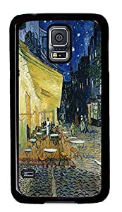 Samsung S5 grove cases Cafe Terrace At Night Art PC Black Custom Samsung Galaxy S5 Case Cover