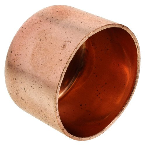 (10-Pack) PROCURU 2-Inch Copper Pipe Cap | Professional Series NSF Lead Free Certified (10-Pack, 2 Inch (2''))