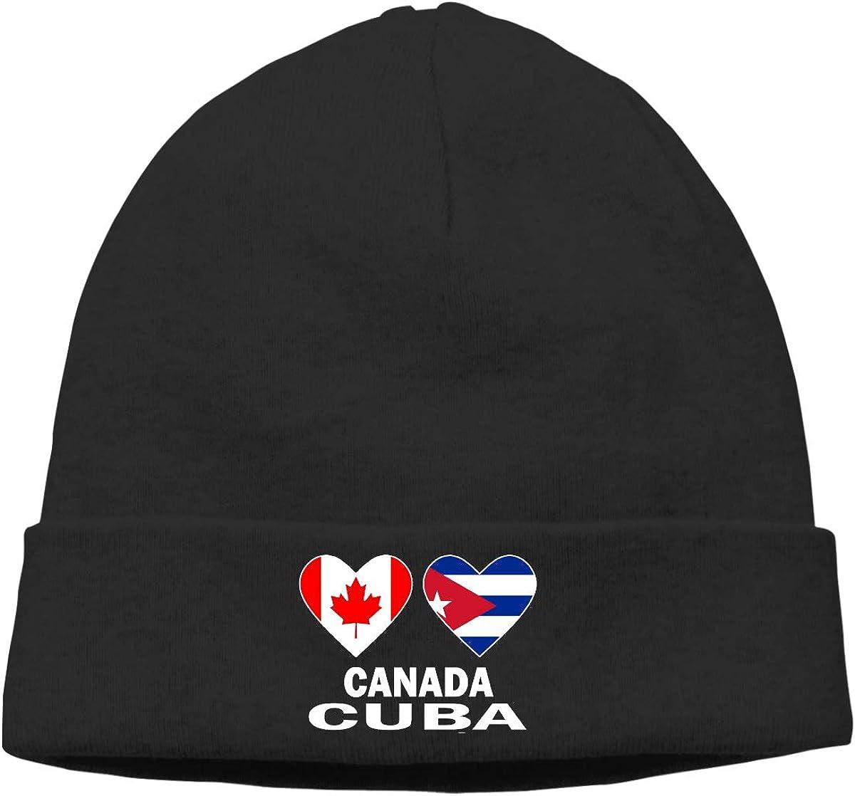E6EP9E Canada Cuba Hearts Warm Skiing Skull Cap Mens Womens Snow Sports Thin Beanie