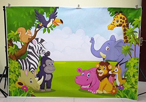 huayi 7x5ft jungle safari backdrop photo background kids photography