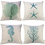 Decorative Pillow Cover - HOSL Ocean Park Theme Decorative Pillow Cover Case D 18
