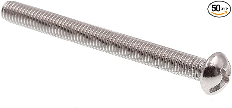 """Round Head Grade 18-8 Stainless Steel Slotted//Phillips Combo Prime-Line 9004329 Machine Screw Pack of 100 #10-32 X 1-1//4/"""""""