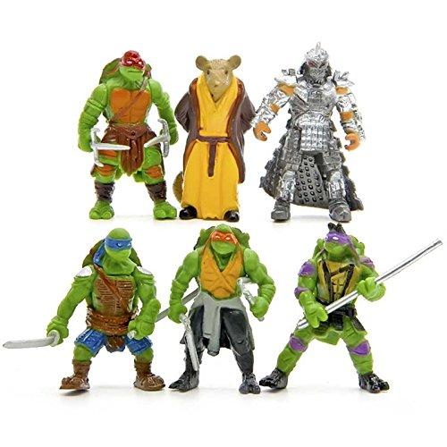 6pcs/lot Teenage Mutant Ninja Turtles TMNT Mini Figures Action Figures Toy Juguetes 1998 Set Classic Toys Kids Christmas Gift