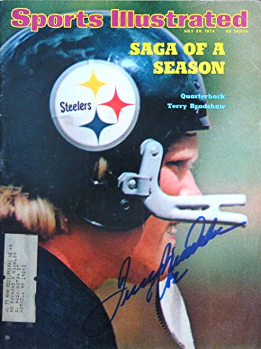 Bradshaw Autographs - Terry Bradshaw autographed Sports Illustrated magazine 7/29/74