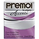Premo Sculpey Polymer Clay 2 Ounces-Silver
