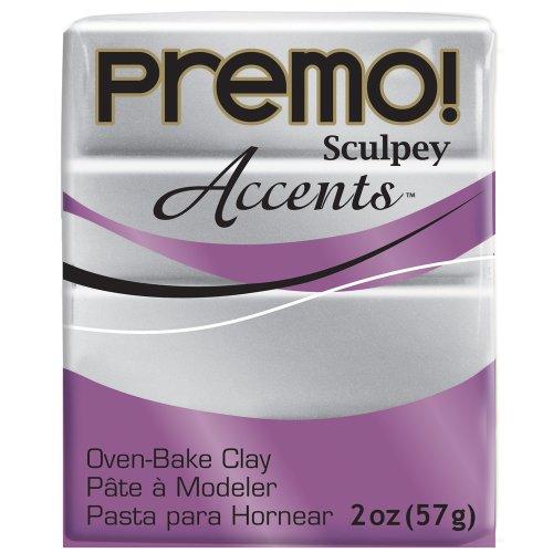 Clay Gold Pearl - Premo Sculpey Polymer Clay 2 Ounces-Silver (PE02 5129)