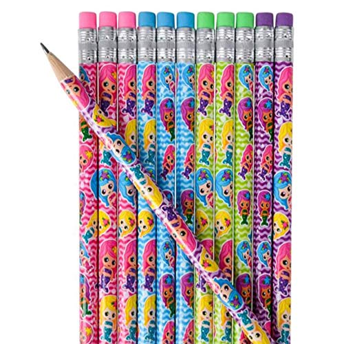 Kicko 7.5 Inches Assorted Mermaid Pencil– 24 Pieces – Party Needs – Loot Bags – Party Bags – Gift Ideas - School Rewards (Assortments May Vary) -