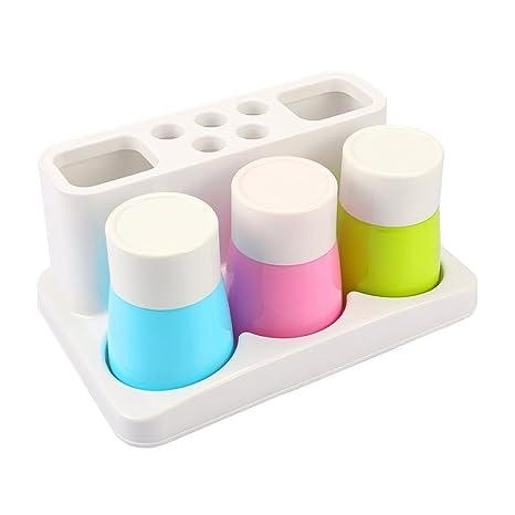 Cuarto de baño juego de soportes para cepillo de dientes, pasta de dientes soporte de