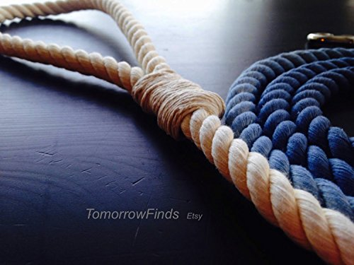 Ombre Rope Dog Leash, 6 FT, Denim Blue