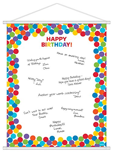 Amscan Rainbow Customizable Scroll Sign-In Sheet, Multicolored, 24
