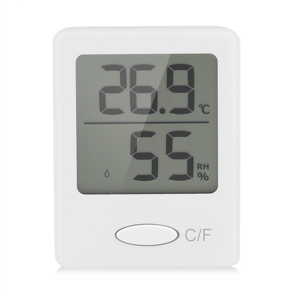Zerodis Digital Hygrometer Indoor Thermometer Room Humidity Temperature Display Home Office Comfort Monitor (Black)