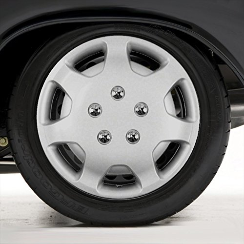 Upgrade Your Auto Set of Four 14' Silver Hubcap Wheel Covers for 1991-1994 Toyota Camry (Push-on)