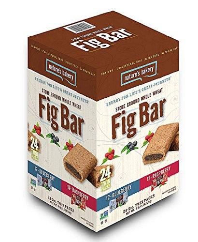 Nature's Bakery Stone Ground Whole Wheat Fig Bars 12 Raspberry 12 Blueberry 48 Oz