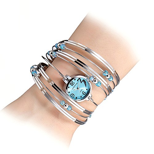 Womens Quartz Bracelet Watch Fashion Analog Multilayer Stainless Steel Ladies Jewelry Watches Women Wristwatch on Sale (Ladies Bracelet Quartz Watch)