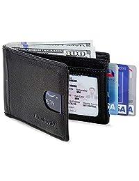 Carteras de Cuero para Caballero Billetera de Bifold Cartera de Tarjeta de Crédito para Hombre