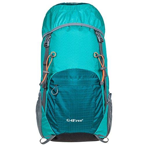 G4Free 40L Wasserdichter Ultraleicht Faltbarer Trekkingrucksack Daypack Damen Herren für Outdoor Wandern Camping Reisen B-Türkis xQMB6