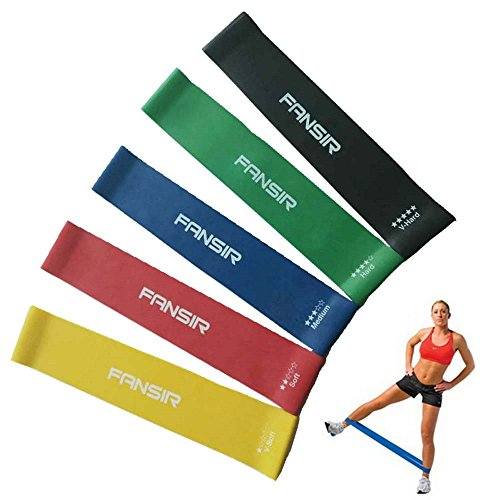Exercise Bands Resistance for leg Loop Fidget Bands for Sport Fitness Elastic Fitness Yoga Loop Band Tension Resistance Pull Rope Crossfit Body Ankle Leg Exercise Training Pack of 5