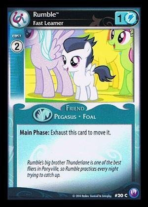 My Little Pony CCG - Rumble, Fast Learner (20) - Canterlot Nights by My Little Pony [並行輸入品] B01LVZ8R1T