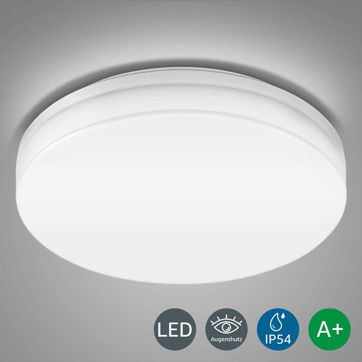 LE 24W Deckenleuchte, 2400lm 5000K Super Hell, Wasserfest IP54 LED Deckenlampe, Ideale Deckenbeleuchtung für Wohnzimmer, Küche, Balkon, Flur, Badezimmer usw. Kaltweiß